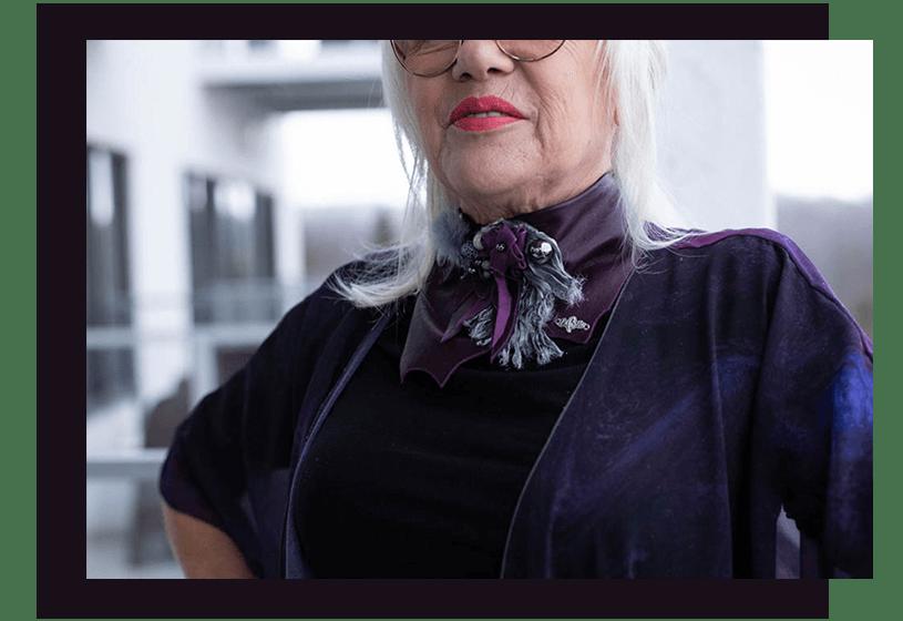 Necklace - Purple - La bete