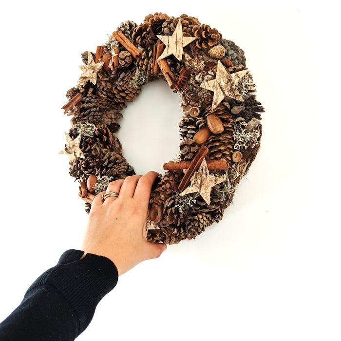 Couronne de Noël «Cannelle»