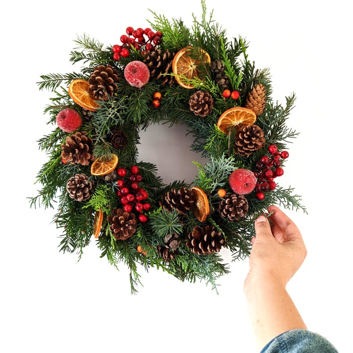 """Couronne de Noël fraîche """"La tradition"""""""