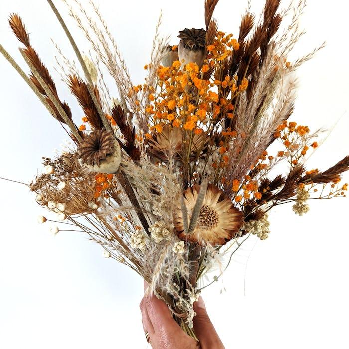 """Bouquet de fleurs séchées """"Orange"""""""