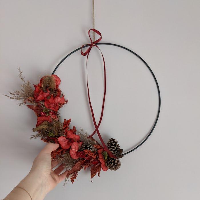 """Couronne de fleurs séchées """"Forestière"""""""