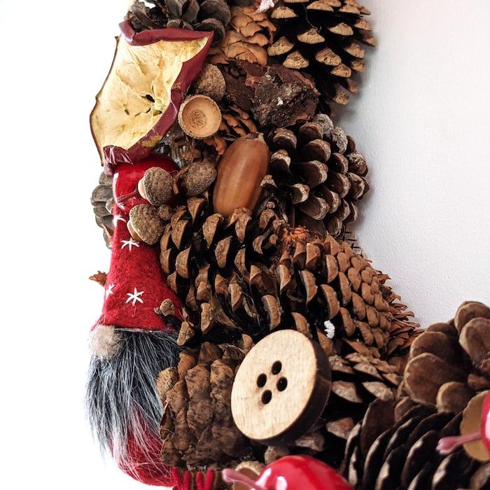 """Couronne de Noël """"Le Gnome"""""""