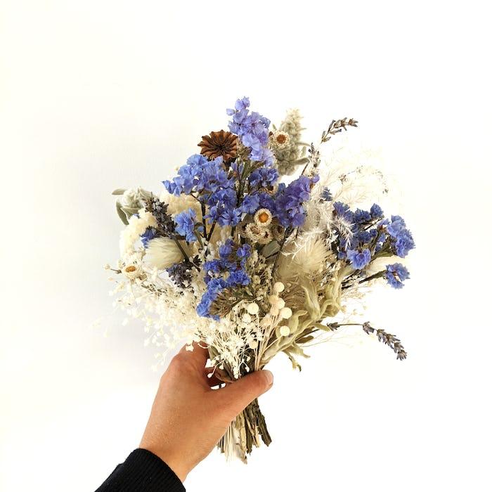 """Bouquet de fleurs séchées """"Blue moon"""""""
