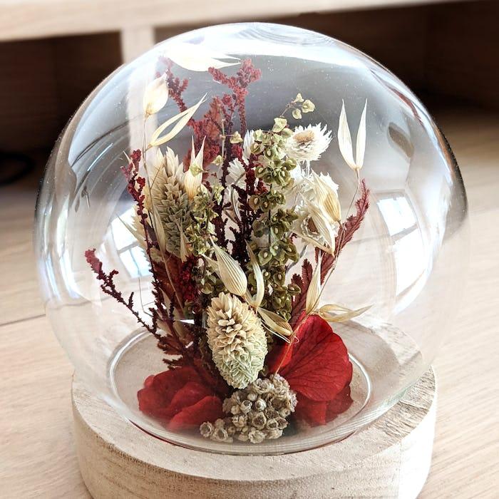 Sphère de fleurs séchée «Cosy»
