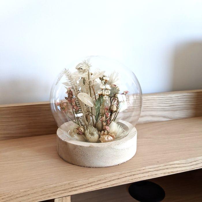Cloche en fleurs séchées «La Fée»