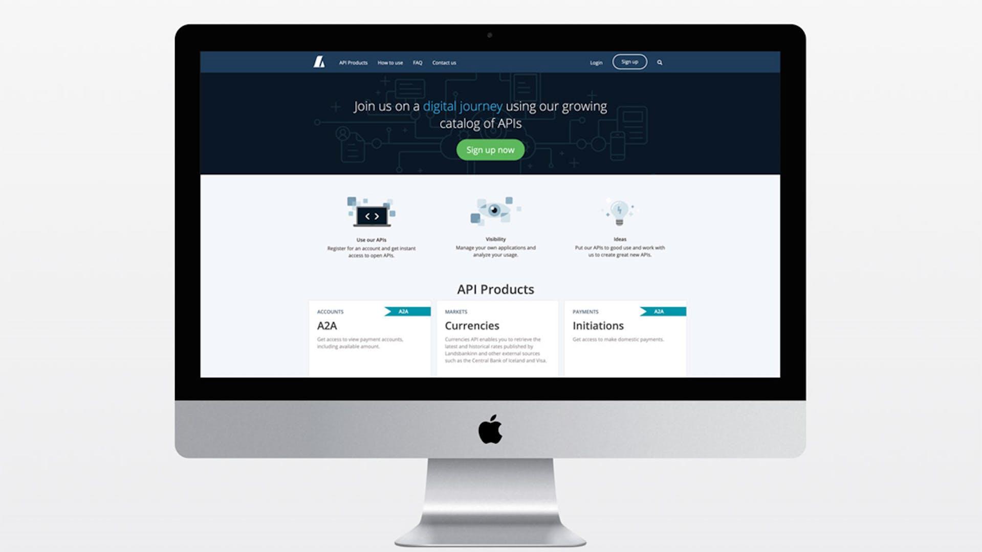 API-markaðstorg Landsbankans