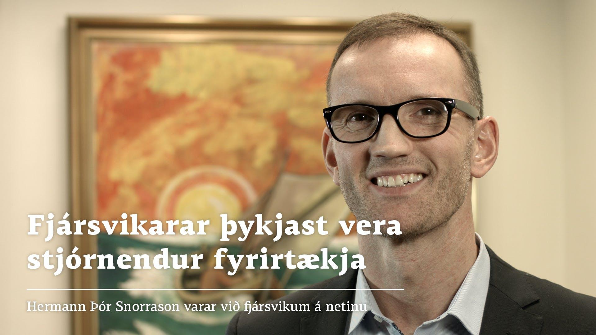 Hermann Þór Snorrason upphafsskjár