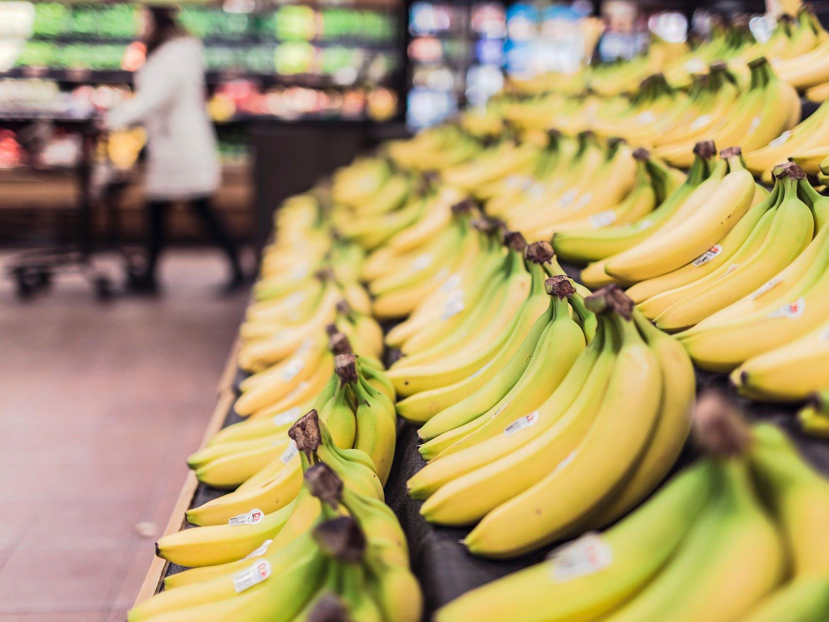 Bananar í verslun