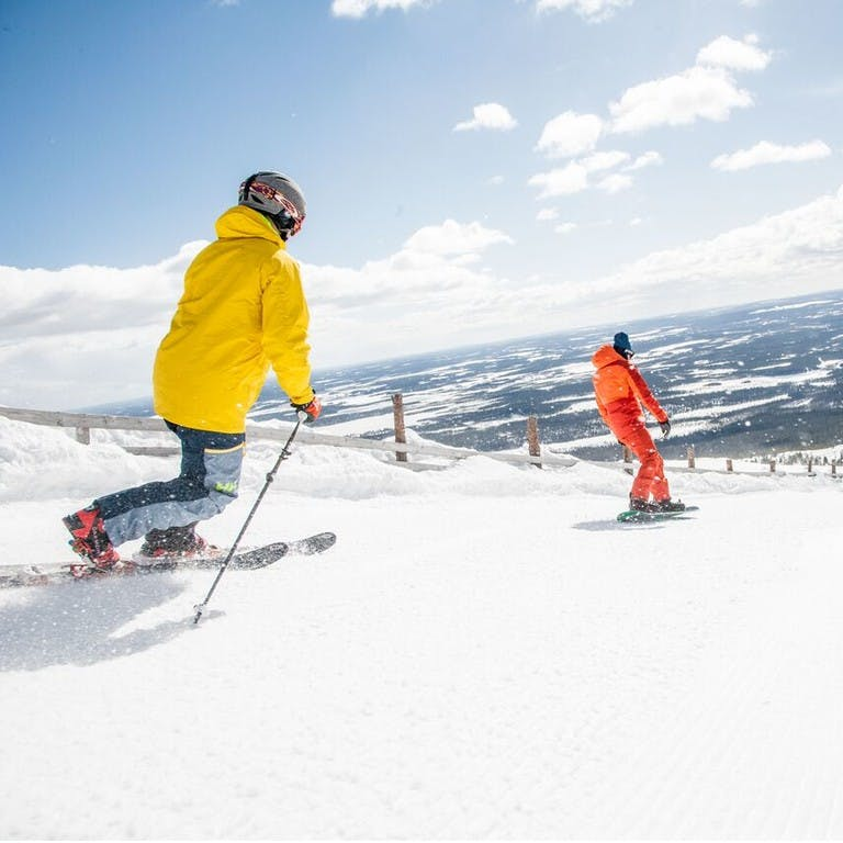 Downhill skiing, telemark and snowboarding in Lapland