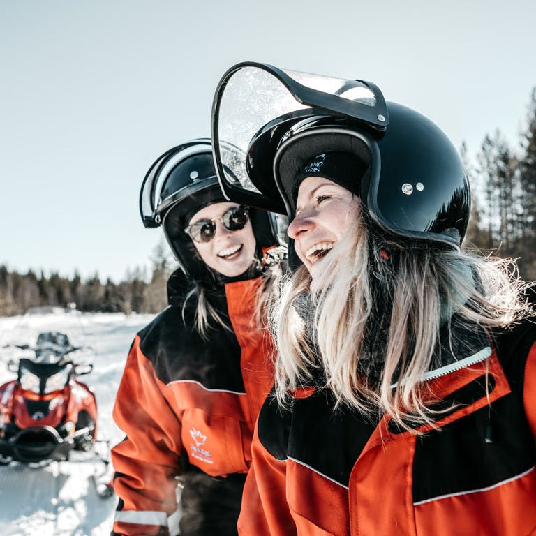 Snowmobiling activities in Lapland