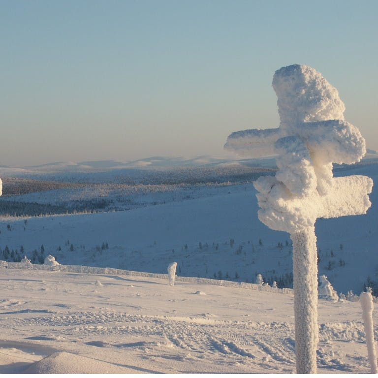 Spätwinter in Lappland