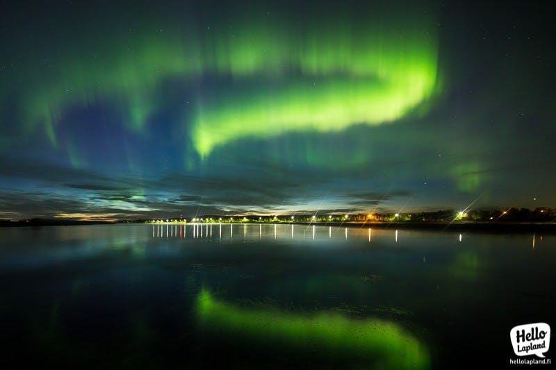 Aurora borealis above Rovaniemi in Lapland (Picture by Aleksander Kuznestov)