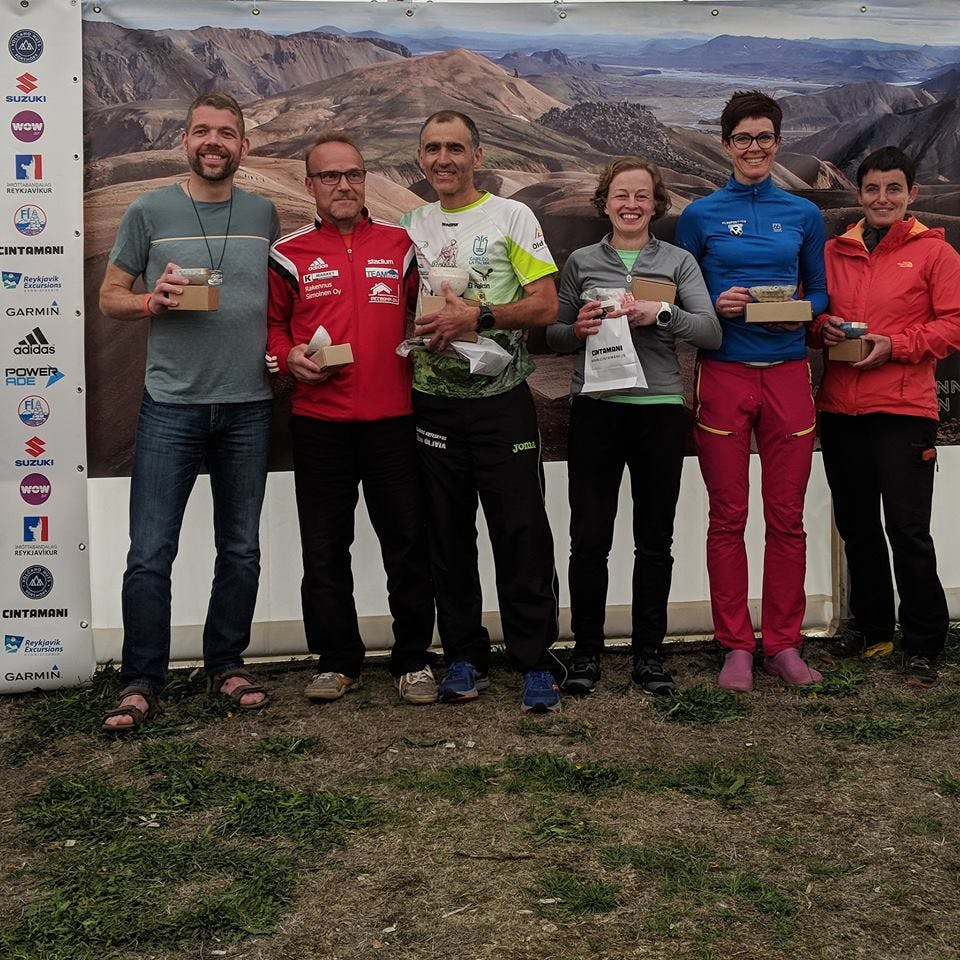 Prize winners in Age group 50-59 years old in Laugavegur Ultra 2018
