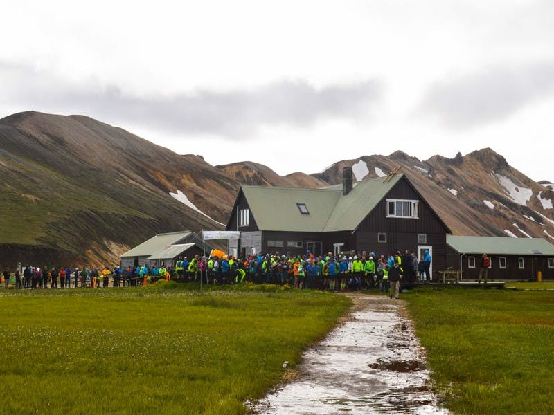 From the race start in Landmannalaugar