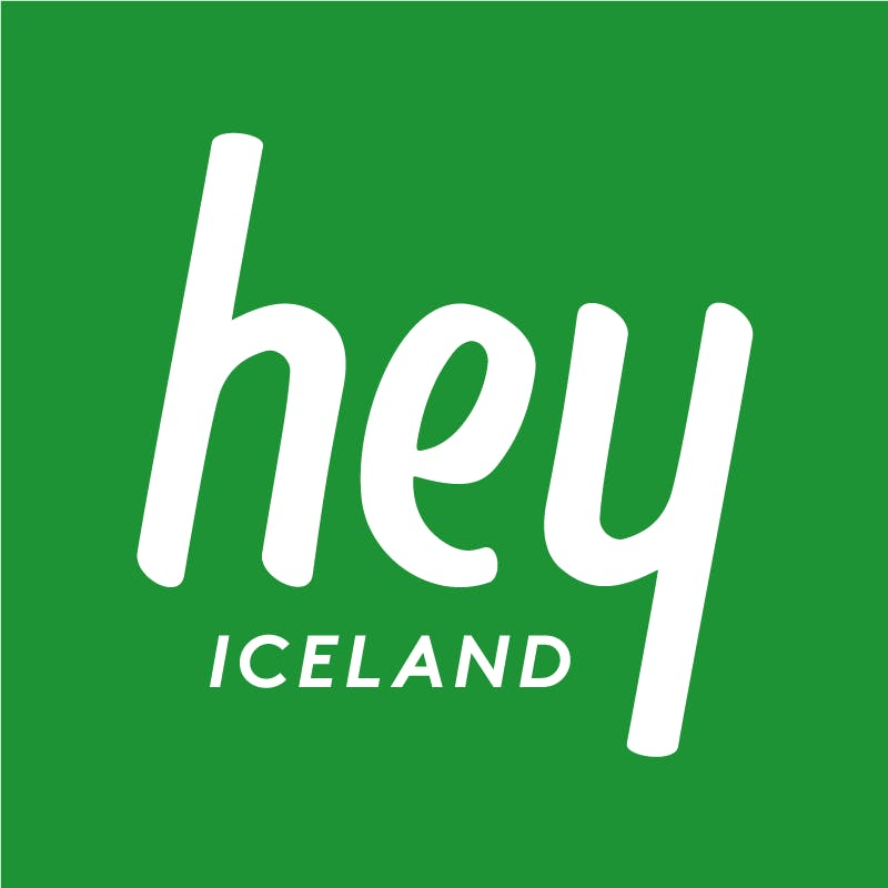 Hey Iceland travel agency´s logo.