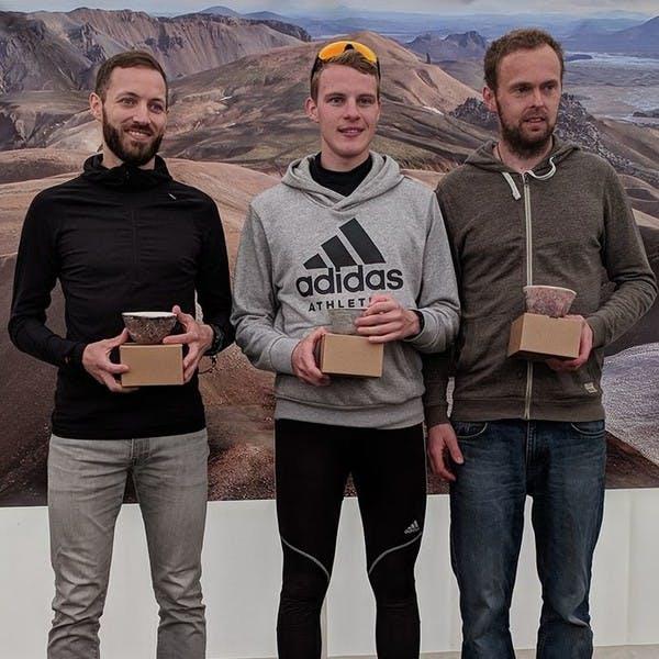 Verðlaunaafhending 2018. Fyrsta sæti karlaliða.