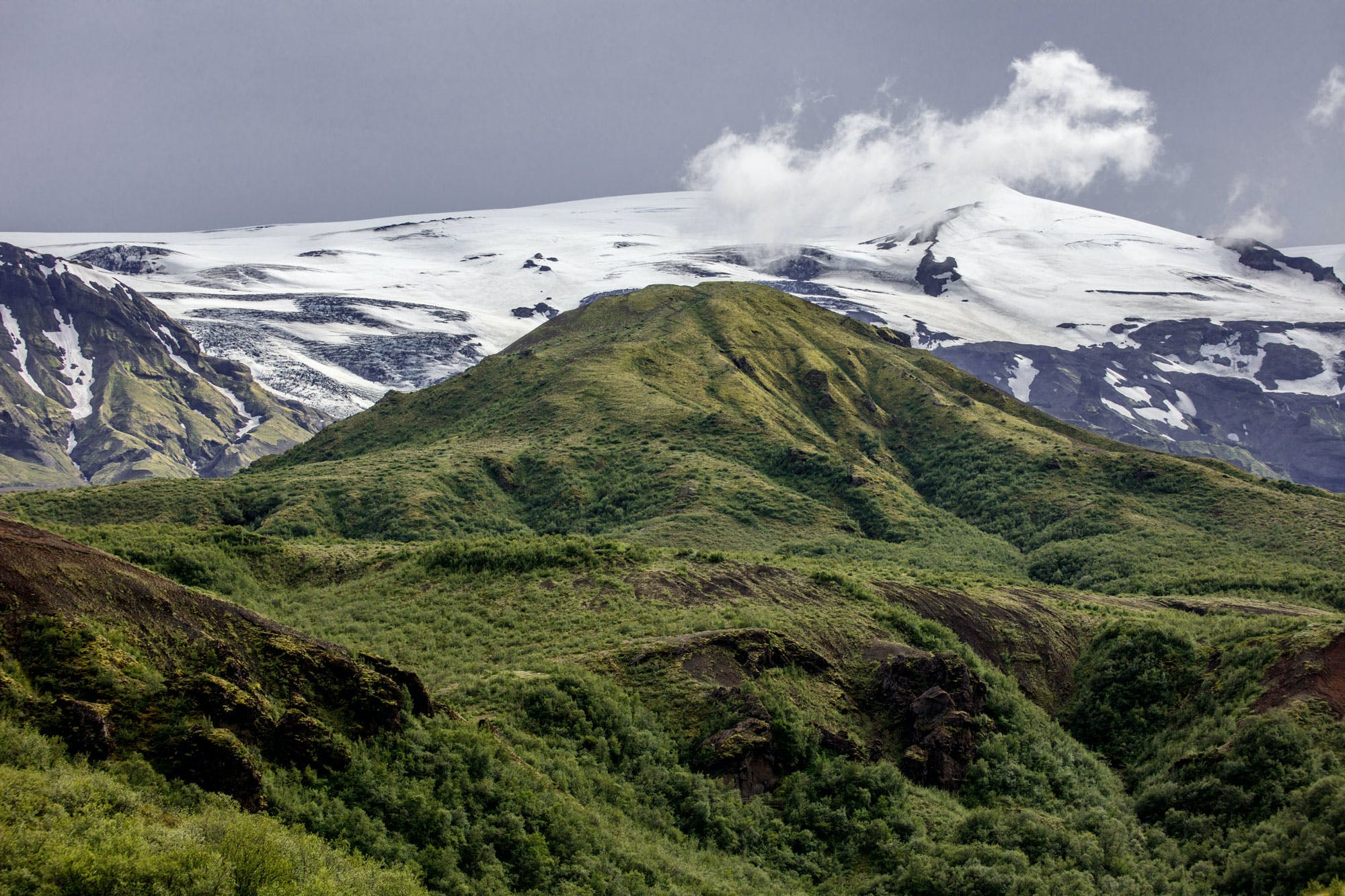 Beautiful landscape of the Laugavegur trail.