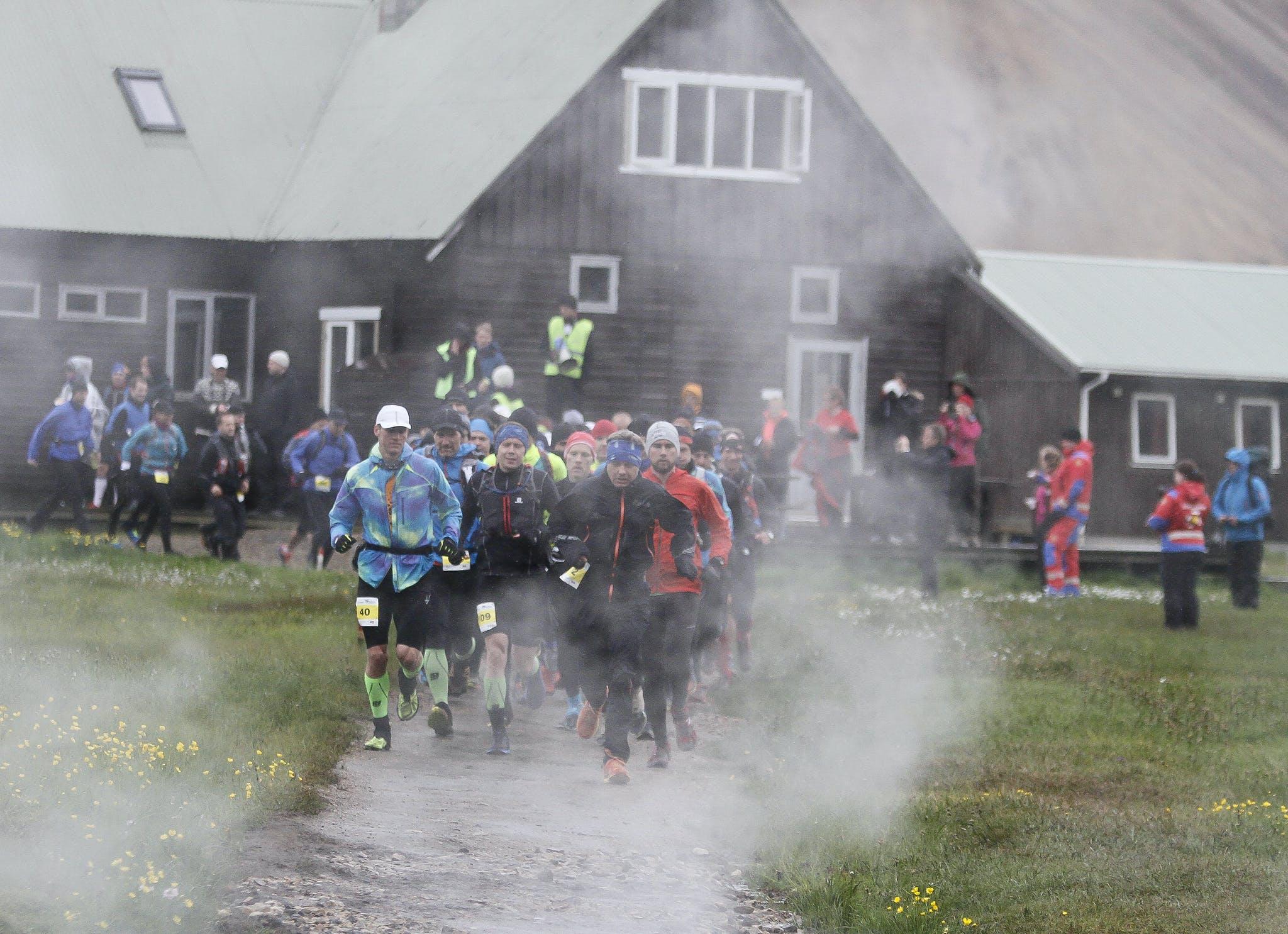 At the race start in Landmannalaugar