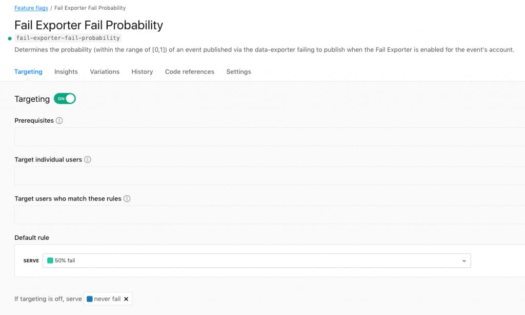 Fail exporter fail probability