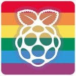 Raspberry Pi Pride sticker