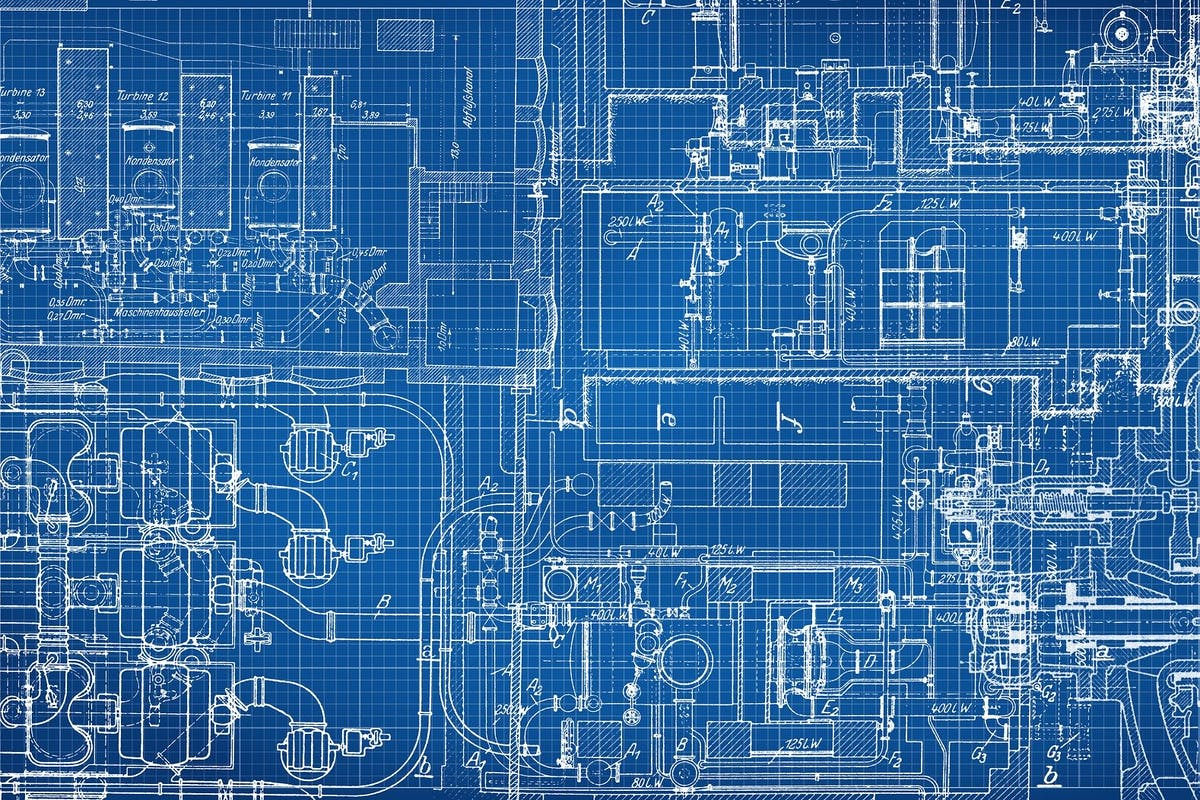 Blueprint technical drawing
