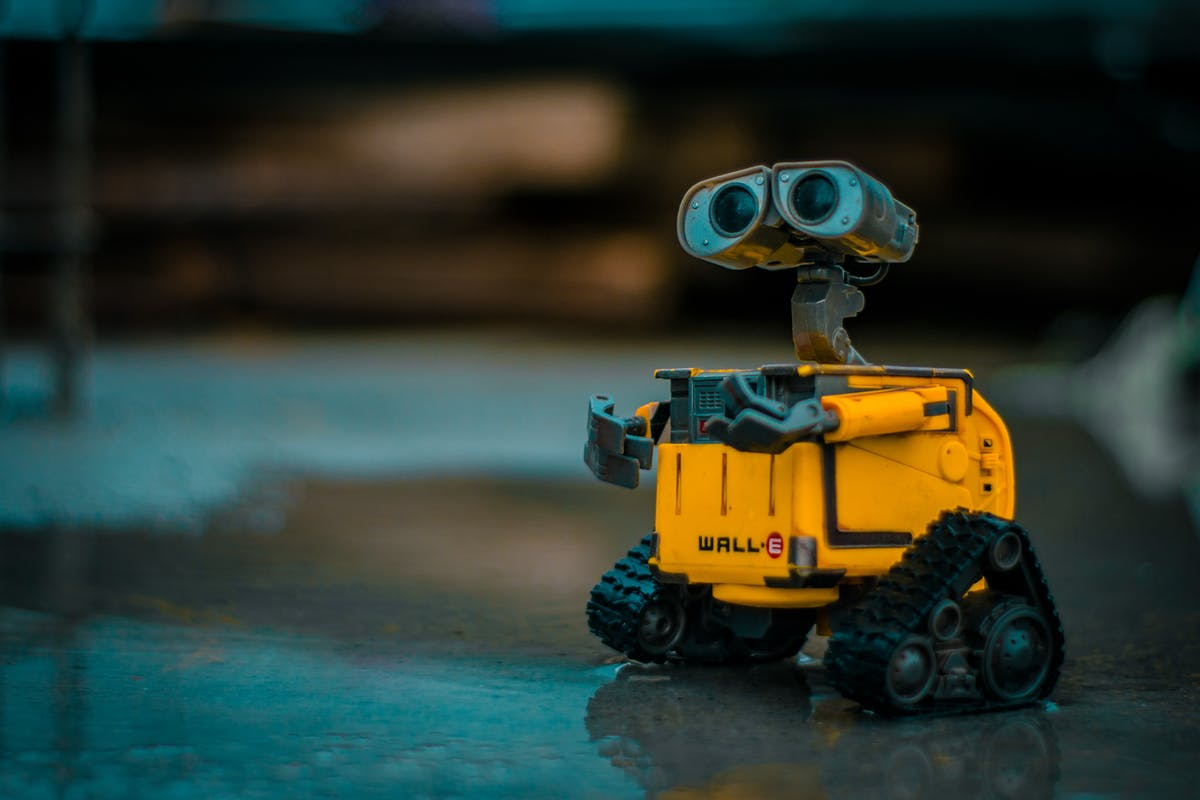 Wall-E looking up