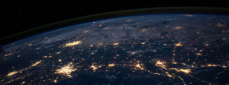 Electric lights seen from space