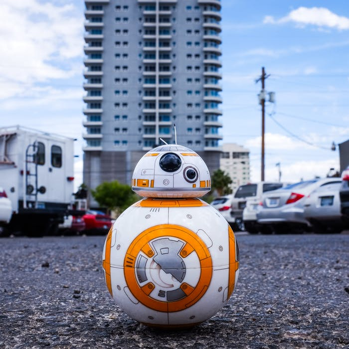 BB8 in a carpark robot
