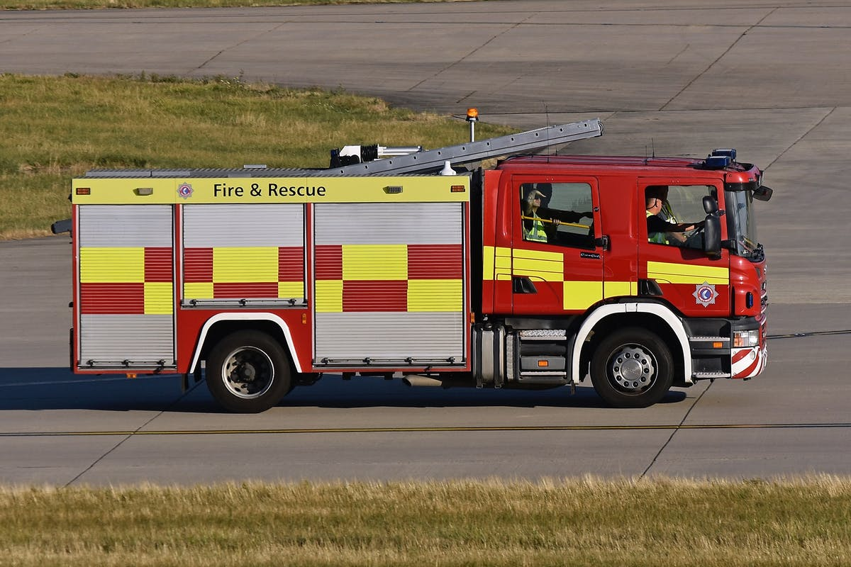 Fire engine at Stanstead airport