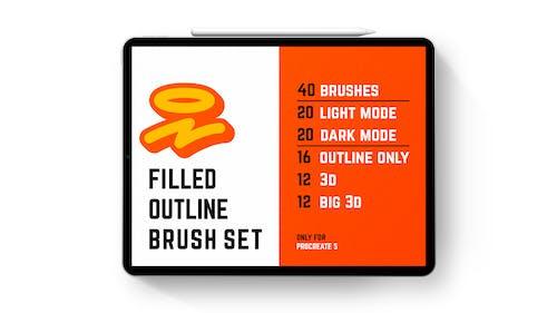 Filled outline brushes
