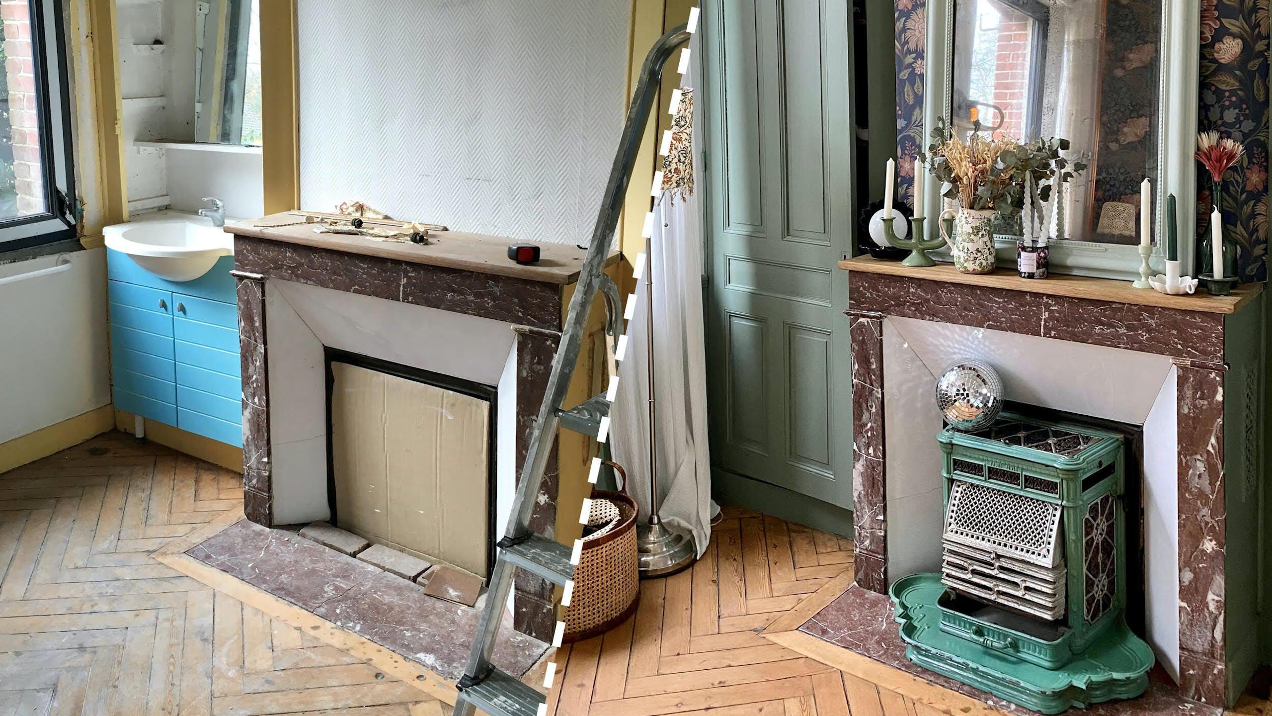 rénovation salon avant après