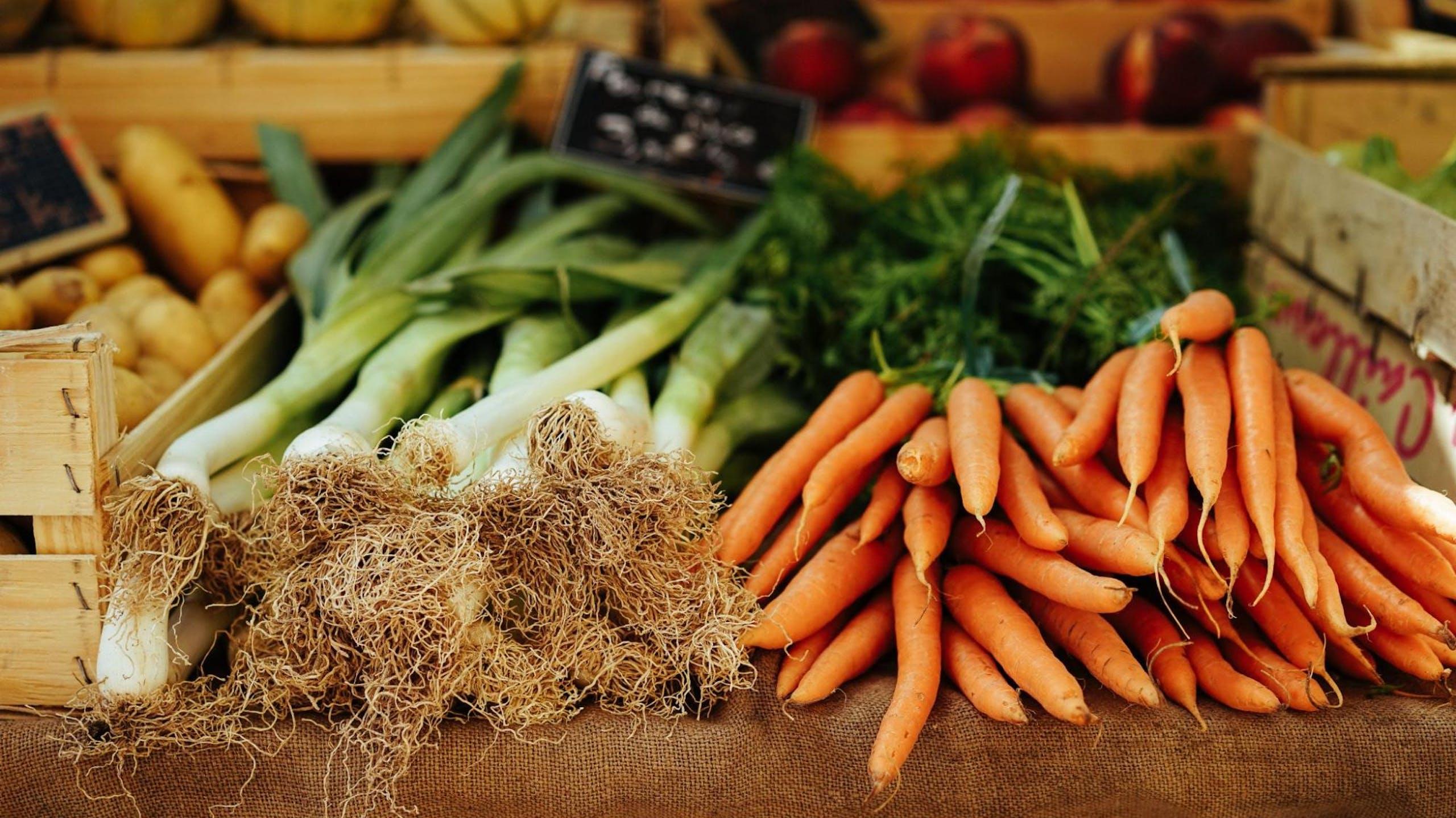 carottes poireaux légumes