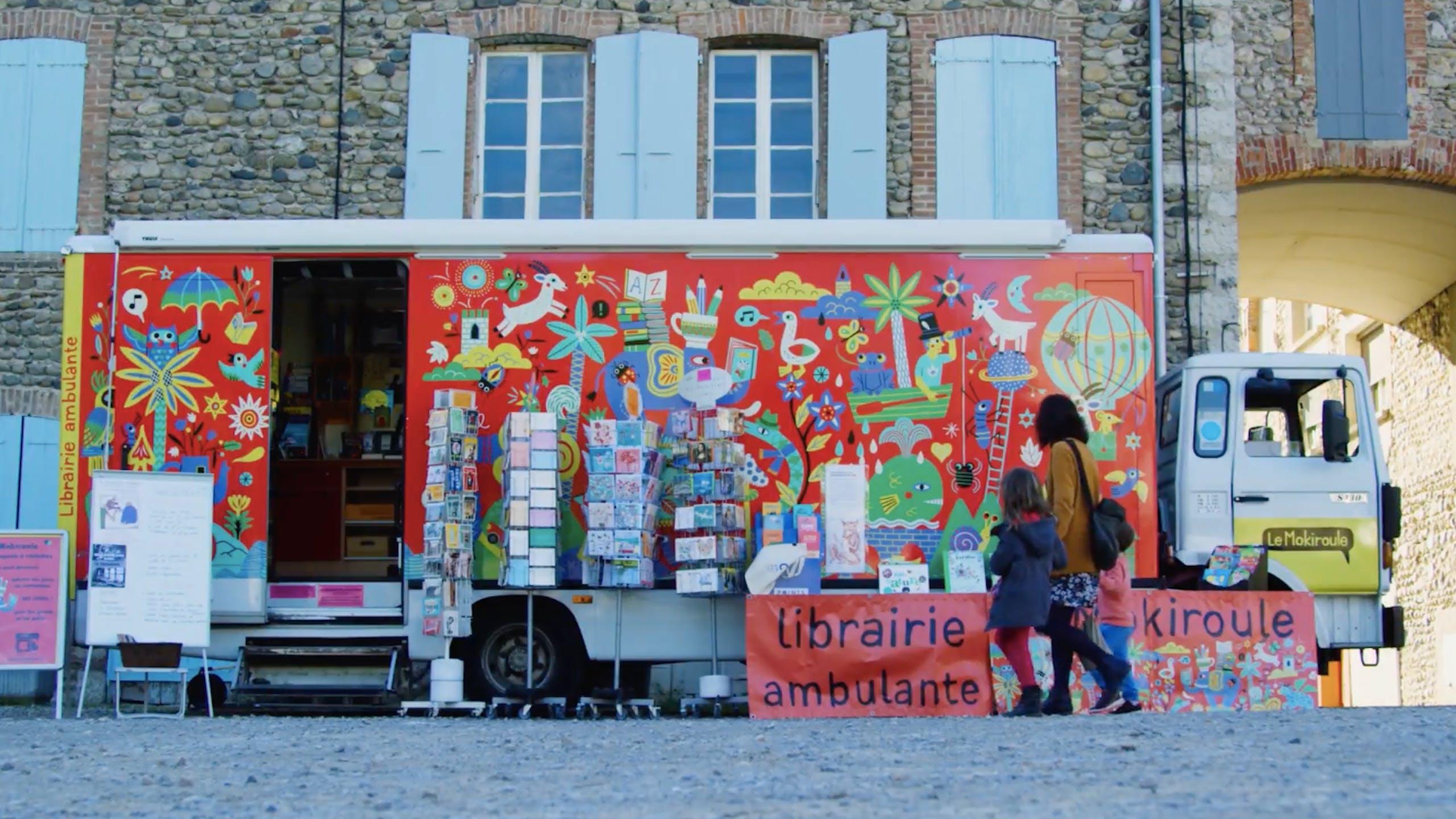 Mokiroule librairie ambulante