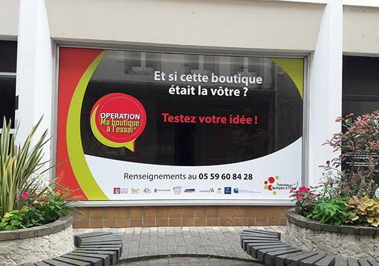 La communauté de communes de  Lacq-Orthez lance l'opération «Ma Boutique à l'essai®»
