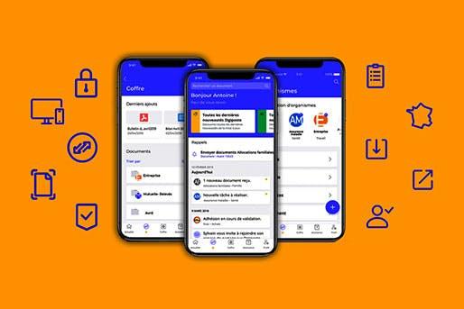 Visuel de Digiposte, le coffre-fort numérique de La Poste qui simplifie la gestion administrative