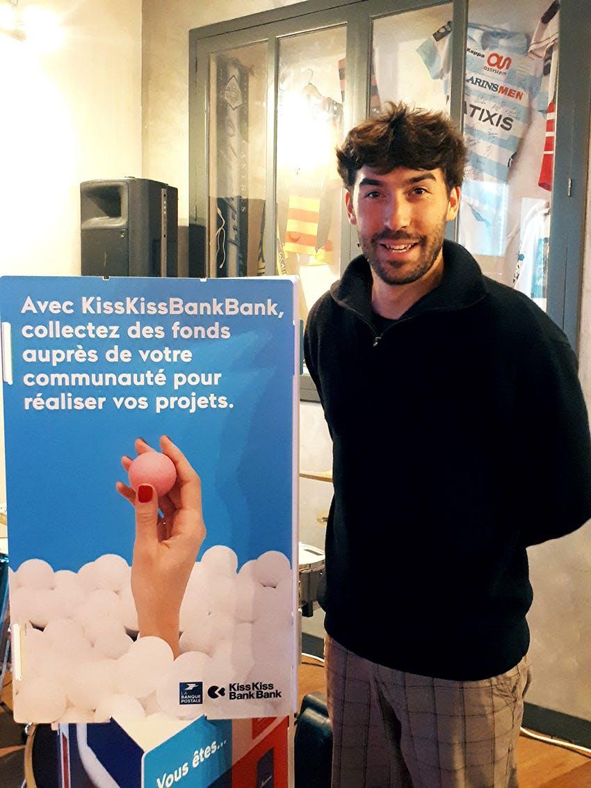 Maxime Larouy a eu recours à KissKissBankBank pour financer son projet théâtral