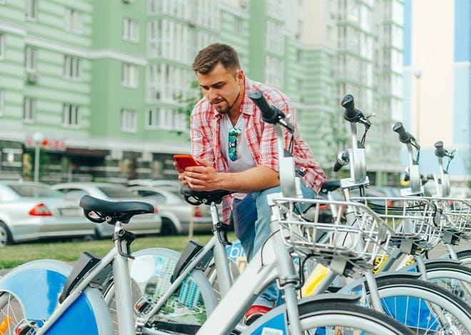 Vélopartage : un service simple, puisque tout se fait depuis son smartphone ou son ordinateur