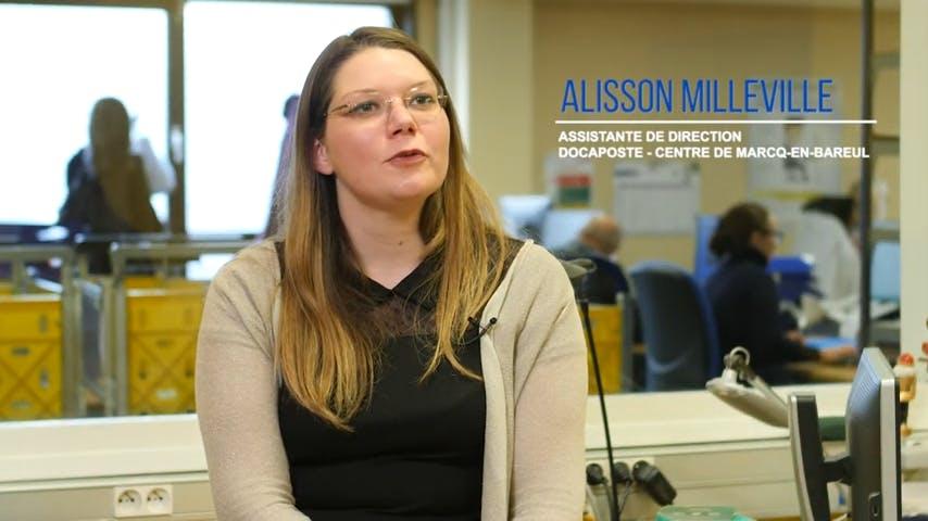 Alisson Milleville, Assistante de direction chez Docaposte