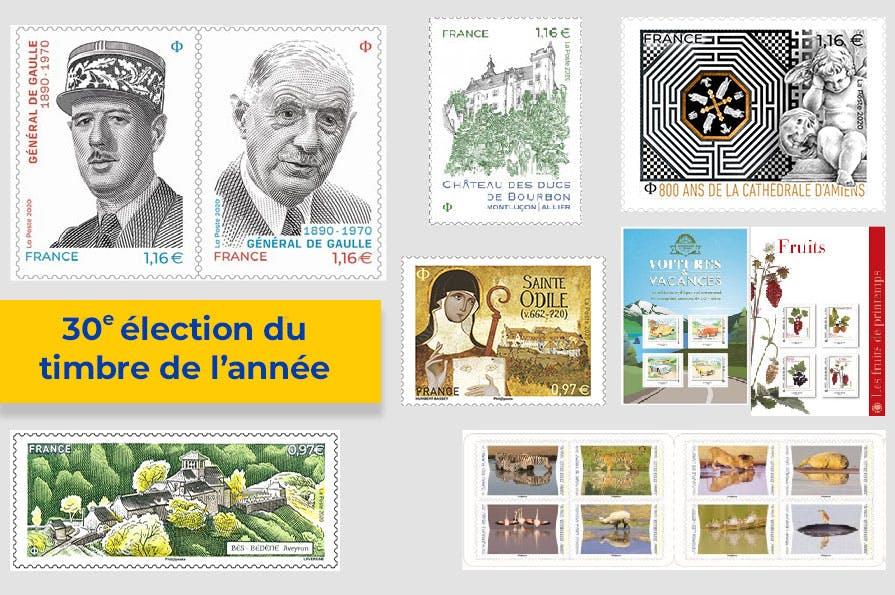 La 30eme élection du timbre de l'année