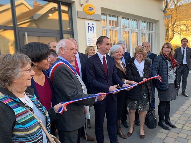Photo de l'inauguration de la maison de services au public de Jonchery-sur-Vesle, le 25 février 2019.