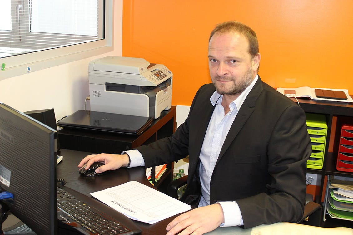 Franck Luflade, Directeur de l'agence AXEO Services de Marmande (47)