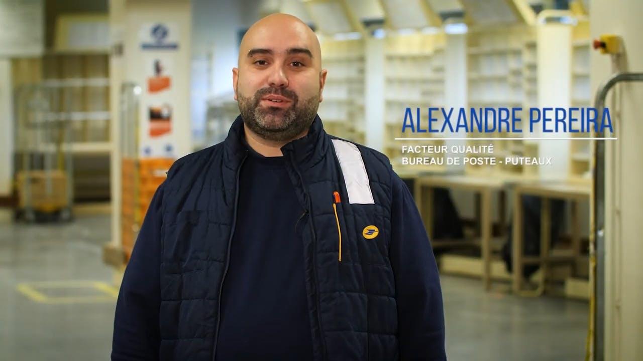 Alexandre Perreira, Facteur qualité chez La Poste