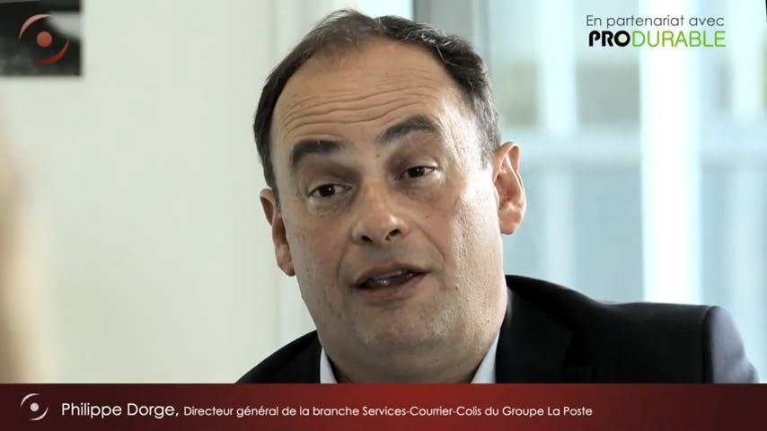 """""""La neutralité carbone en action"""" - Philippe Dorge, Directeur général de La Poste Courrier"""