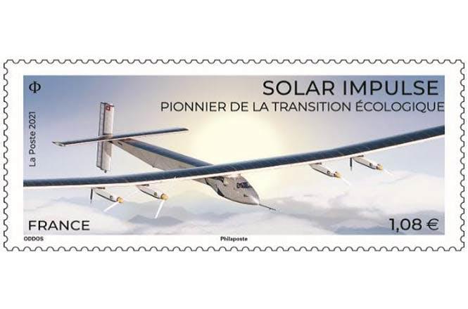 un timbre mettant à l'honneur Solar Impulse