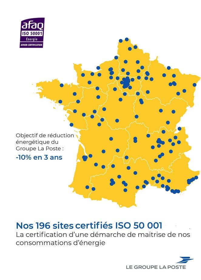 Management de l'énergie : le Groupe La Poste obtient la certification ISO 50001