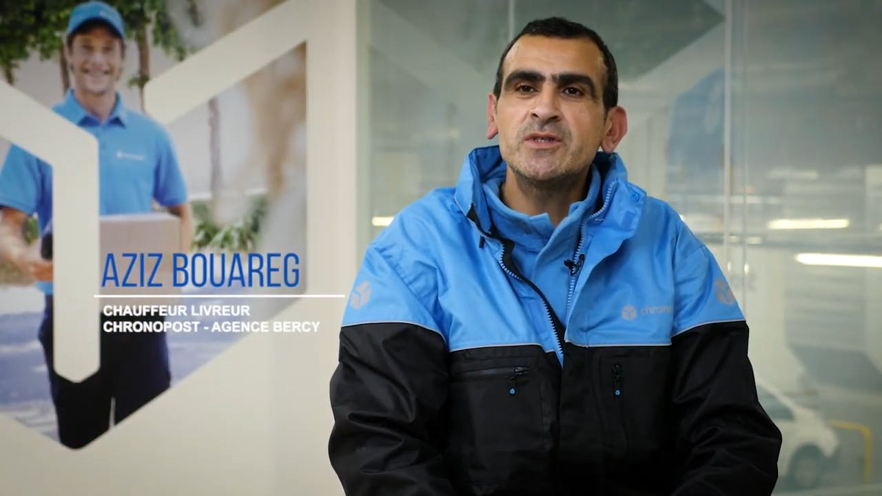 """Aziz Bouareg, Delivery driver using """"green"""" vehicles"""