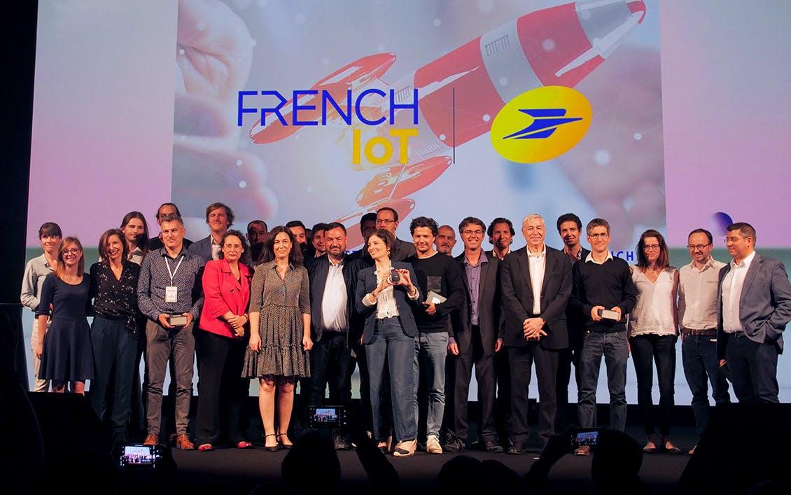 Photo des fondfondatrices et fondateurs des start-up lauréates du concours French IoT 2019.