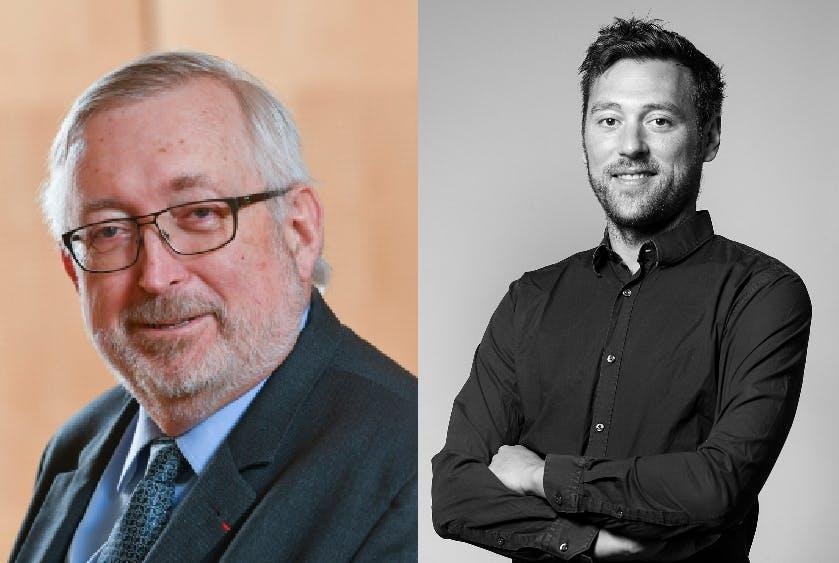 """Philippe Dutruc, Président de la CCI (79) (à gauche) et Thierry Chardy, fondateur et directeur de la plateforme """"Ma ville Mon Shopping"""""""