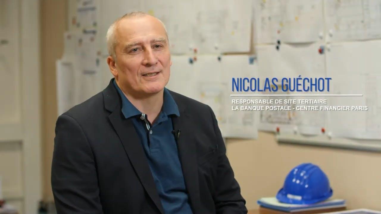 Nicolas Guéchot, Responsable du site tertiaire de La Banque Postale