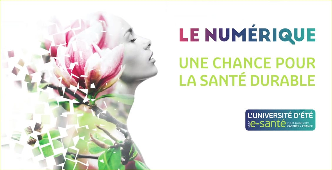 Visuel de l'affiche de l'Université d'été de l'e-Santé